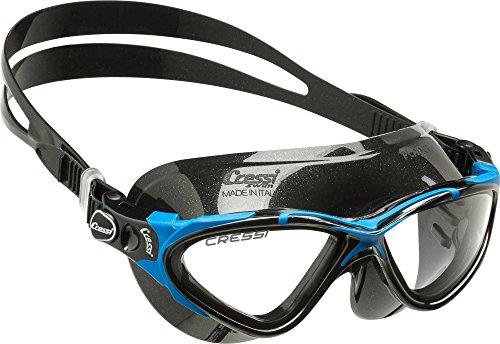 Cressi Planet Swim Goggles - Premium Anti Niebla Gafas de Natación Máscara 100% Anti UV, Negro/Azul/Negro