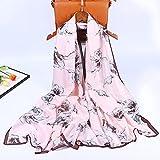 BXBX Bufanda de Seda Verano DE Verano Mujer FLEVE Spring Y OTOÑO AFAYO con SILDA Shade Shade Shade Shade Playa Toalla Grande Toalla Larga 421 (Color : Pink, Size : 90cmx180cm)