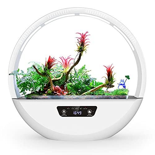 MIAE Jardinera Inteligente para Interiores De 17 Pulgadas con Luz De Relleno LED, Sistema De Alarma De Riego Automático Y Escasez De Agua, para Flores, Hierbas, Suculentas