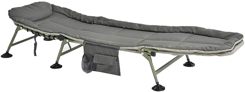 GL- Foam Bettstuhl Liege zum Karpfenangeln, Zeltbett Campingstuhl oder Gstebett 6-Bein-Liege (Farbe  Grau)