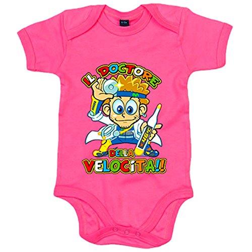 Body bebé Vale Il Doctore Della Velocità - Rosa, 6-12 meses