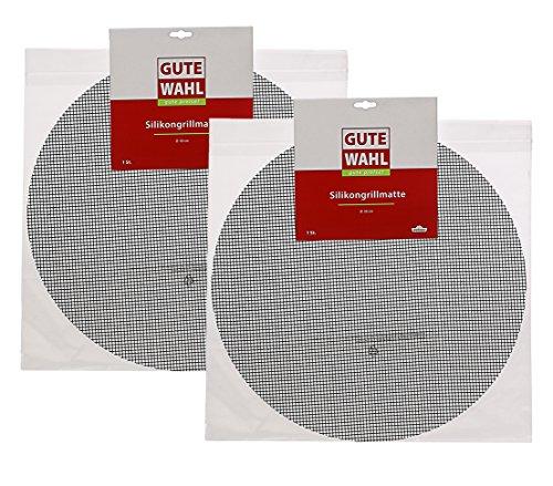 Dehner Gute Wahl Grillmatte 2er Set, Ø 50 cm, Silikon, schwarz