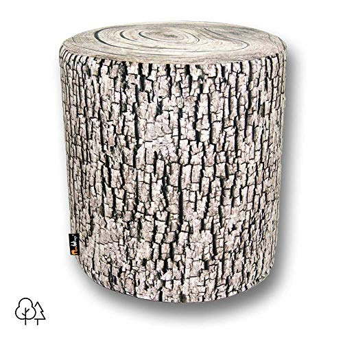 MeroWings Outdoor Baumstumpf Sitzhocker Ash