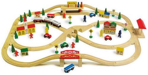 Small foot company - 1501 - Circuit De Trains Miniatures Et Rail - Chemin De Fer - Voie Ferrée Élevée