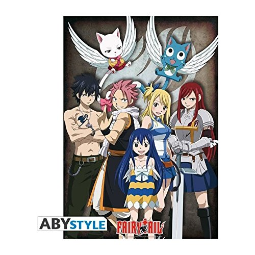 Fairy Tail Group Poster multicolore