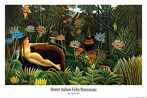 1art1 Henri Rousseau - Der Traum, 1910 Poster 91 x 61 cm