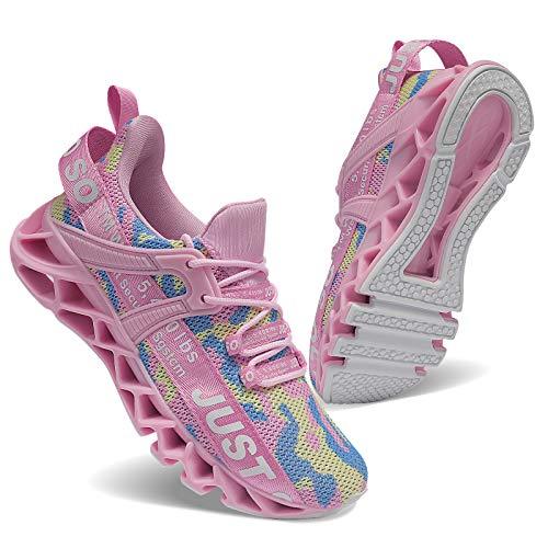 Zapatillas de correr para mujer, para hacer senderismo, para el tiempo libre, slip, modernas, deportivas al aire libre., color, talla 39 EU