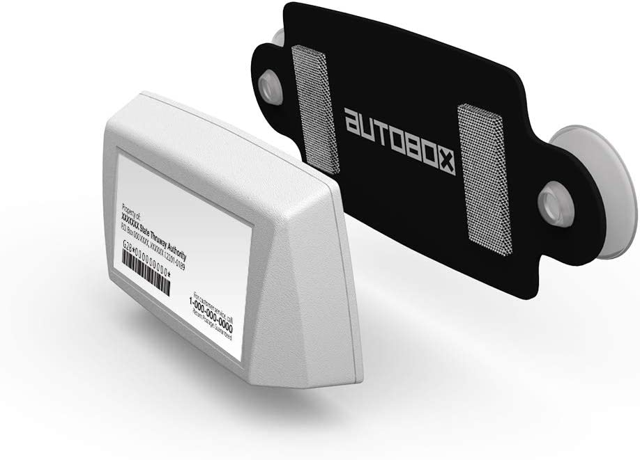 AutoBoxClub EZ Pass Holder Black, 1 Pack IPass Holder//Toll Pass Holder for Most US States//Toll Pass Windshield Mount//Easy to Install and Remove//with 4pcs Toll Pass Mounting Strips//UV-Protective