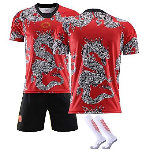 CWWAP POGBA6 Personalizado ALEXIS7 Poliéster Uniforme de fútbol Hombre Mujer Camiseta de fútbol Transpirable Dragón Uniforme Uniforme conmemorativo Sin deformación-Blank-S