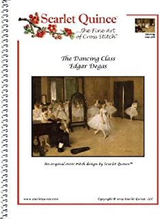 Scarlet Quince DEG003lg The Dancing Class by Edgar Degas Counted Cross Stitch Chart, Large Size Symbols