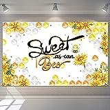 Blulu Fondo de Sweet as Can Bee Fondo de Cumpleaños de Miel de Abeja Pancarta de Cumpleaños Fondo de Fiesta de Bienvenida a Bebé para Fotografía