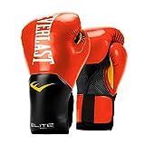 Everlast Elite Pro Style Training Gloves, Red 12 oz