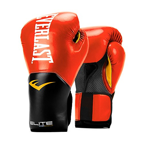 Everlast Elite Pro Style Training Gloves, Red, 16 oz