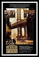 ワンスアポンアタイムインアメリカ ロバートデニーロ、アート映画のポスターフレーム、装飾が施された部屋、最高の贈り物のサイズ16 x 12inch
