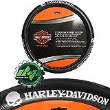 Diesel Power Plus Harley Davidson Rubber Willie G Steering Wheel Cover Leather Grip Motorcycle HD