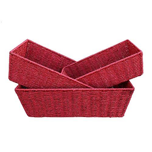 Vassoi di carta rossa