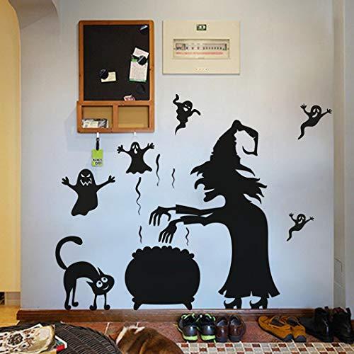 vovo Vovotrade Halloween Geist Wandtattoo Aufkleber,Happy Halloween Home Haushalt Zimmer Wand Aufkleber Wandbild Dekor Aufkleber (A)