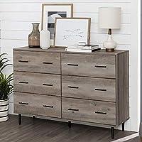 Walker Edison Furniture Company Modern 6 Wood Cabinet Storage Drawer