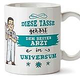 Arzt Tasse/Becher/Mug Geschenk Schöne and lustige kaffetasse - Diese Tasse gehört dem besten Arzt...