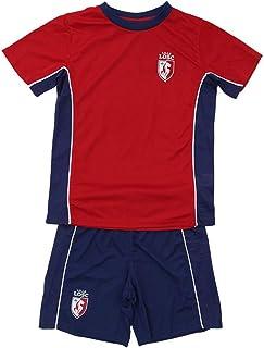 Blanc. T-Shirt Big Logo Flock Lille Enfant Licence Officielle LOSC
