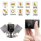 Caméra cachée WiFi LXMIMI 10 Heures Batterie Caméra Espion 1080P Caméra IP avec...