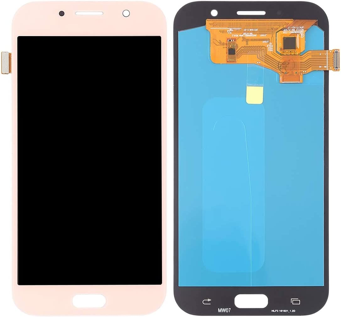 A720F 2017 OLED Material for Galaxy A7 Black Color : Pink YANGJ Phone LCD Screen LCD Screen and Digitizer Full Assembly A720F//DS