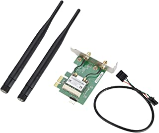 300Mbps Wireless PCI-E WiFi Adapter Dual Band Desktop PCI-E wireless network card with Bluetooth 4.0 BT for Atheros AR5B22 PCI Express Desktop Adapter(Half Height Baffle)