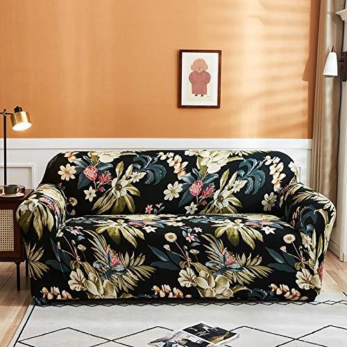 PPOS Fundas Protectoras de sofá Impresas para Sala de Estar Fundas elásticas elásticas para sofá de Esquina seccionales A11 3 Asientos 190-230cm-1pc