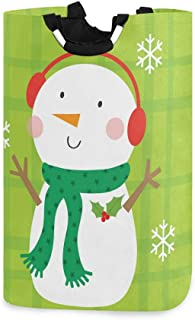 CaTaKu Chrsitmas Panier à linge mignon Pingouin Panier à linge de Noël Grande boîte de rangement étanche facile à transpor...