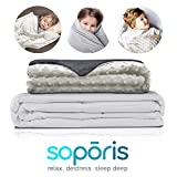 Soporis Deluxe Weighted Blanket for Children - Luxurious Soft Removable Cover - Sensory