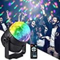 Moukey Party Lights, Disco Ball Light with Sound-activated Strobes Rotating 7 Lighting Modes Remote Control for DJ Bar Pub Club Party Karaoke Music Show Indoor and Outdoor