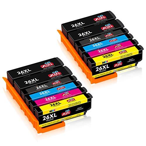 JIMIGO 26 XL 26XL Cartucce Sostituzione per Epson 26 Cartucce Compatibile con Epson Expression Premium XP-600 XP-520 XP-610 XP-510 XP-605 XP-810 XP-710 XP-700 XP600 XP520 XP610 XP510 XP605 XP810