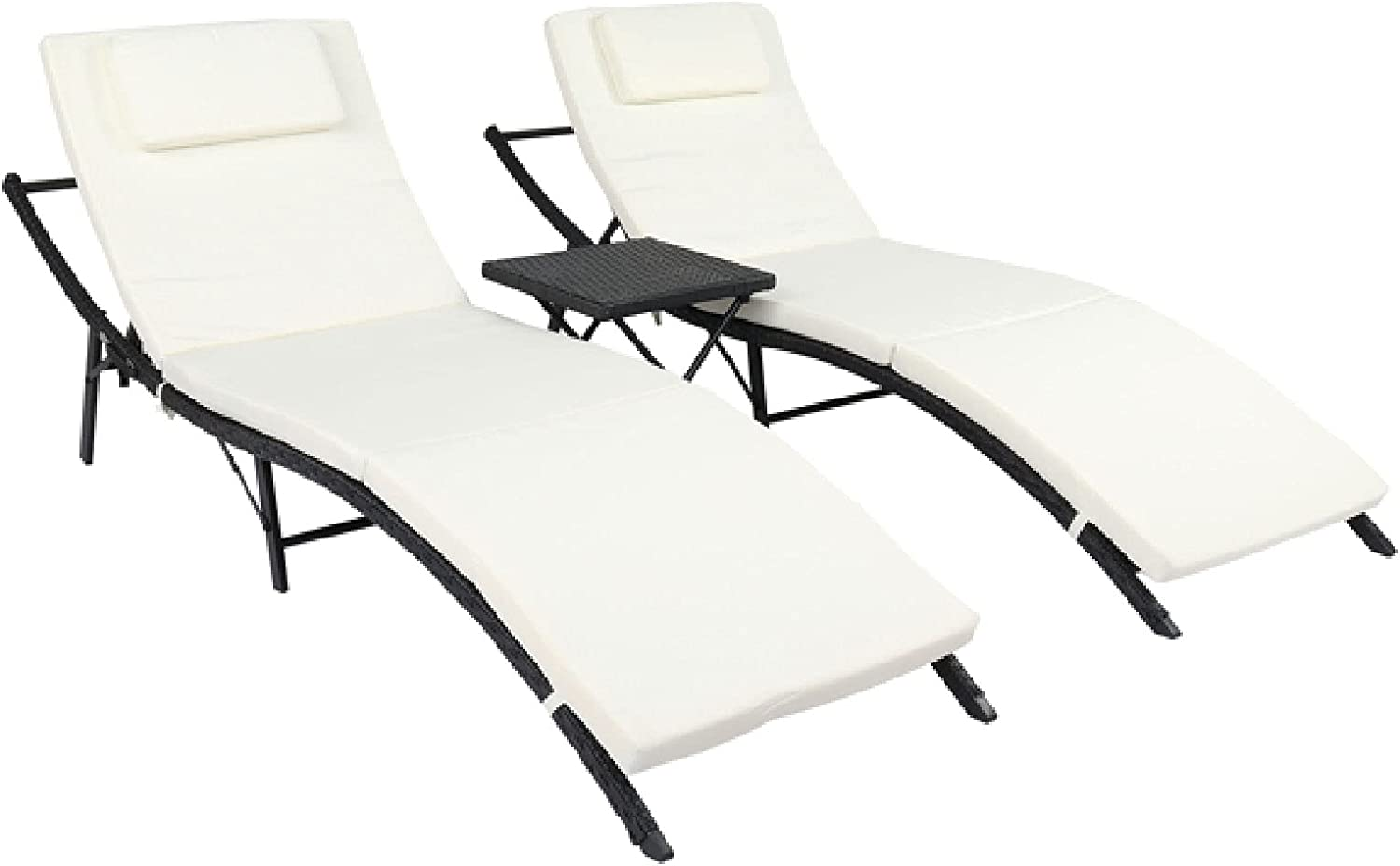 Lixiabeidai Chaise Lounge Set excellence Baltimore Mall of 3 Chair Beach Po Outdoor