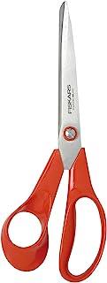 Fiskars Ciseaux universels pour gauchers, Longueur totale: 21 cm, Lames en acier inoxydable/Poignées en plastique, Classi...