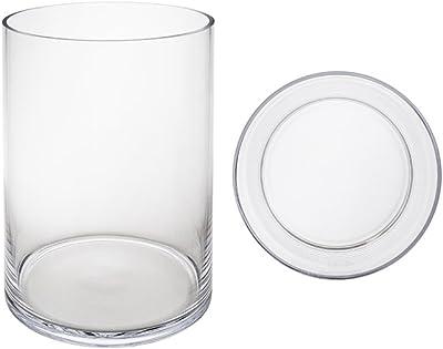 """Clear Mega Vases 8/"""" x 10/"""" Cylinder Glass Vase 1 Piece"""