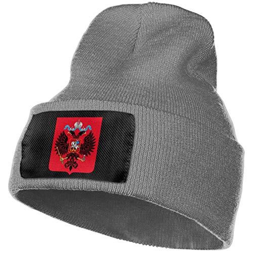 AEMAPE Escudo de Rusia Sombrero de Punto Unisex Gorras de Calavera de Moda Sombreros de Punto