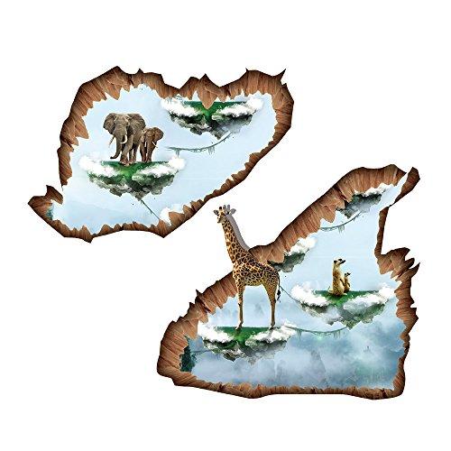 Winhappyhome Floating Island Ground Art Autocollants pour Chambre à Coucher Salon DéCoration DéCoration DéCoratifs