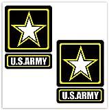 Biomar Labs® 2 x Pegatinas de Vinilo Adhesivos Estrella Militar Americana Ejercítio de Estados Unidos US Star Army Sticker Jeep Auto Coche Ventana Puerta Casco Scooter Bici Motocicleta Tuning B 254