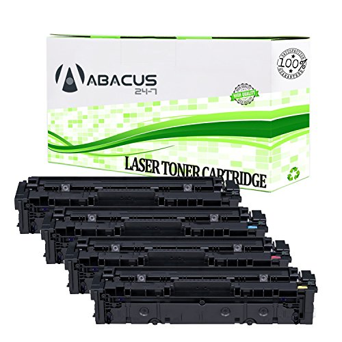 Abacus24-7 Compatible non-OEM Replacement for Canon 045 Toner Cartridges [High Yield] and MF634Cdw, MF632Cdw, LBP612Cdw Printers - 4 Pack