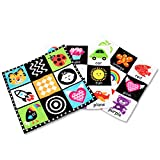MOMOK My First Sensory Toys for Baby, Soft Activity Mat Crinkle Books, High Contrast Square Wrinkle Toy for Infants, Toddlers and Kids Perfect Early Educational(3 Pack)