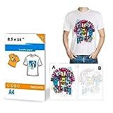 10 hojas de papel de transferencia de calor para impresoras de camiseta, A4,...