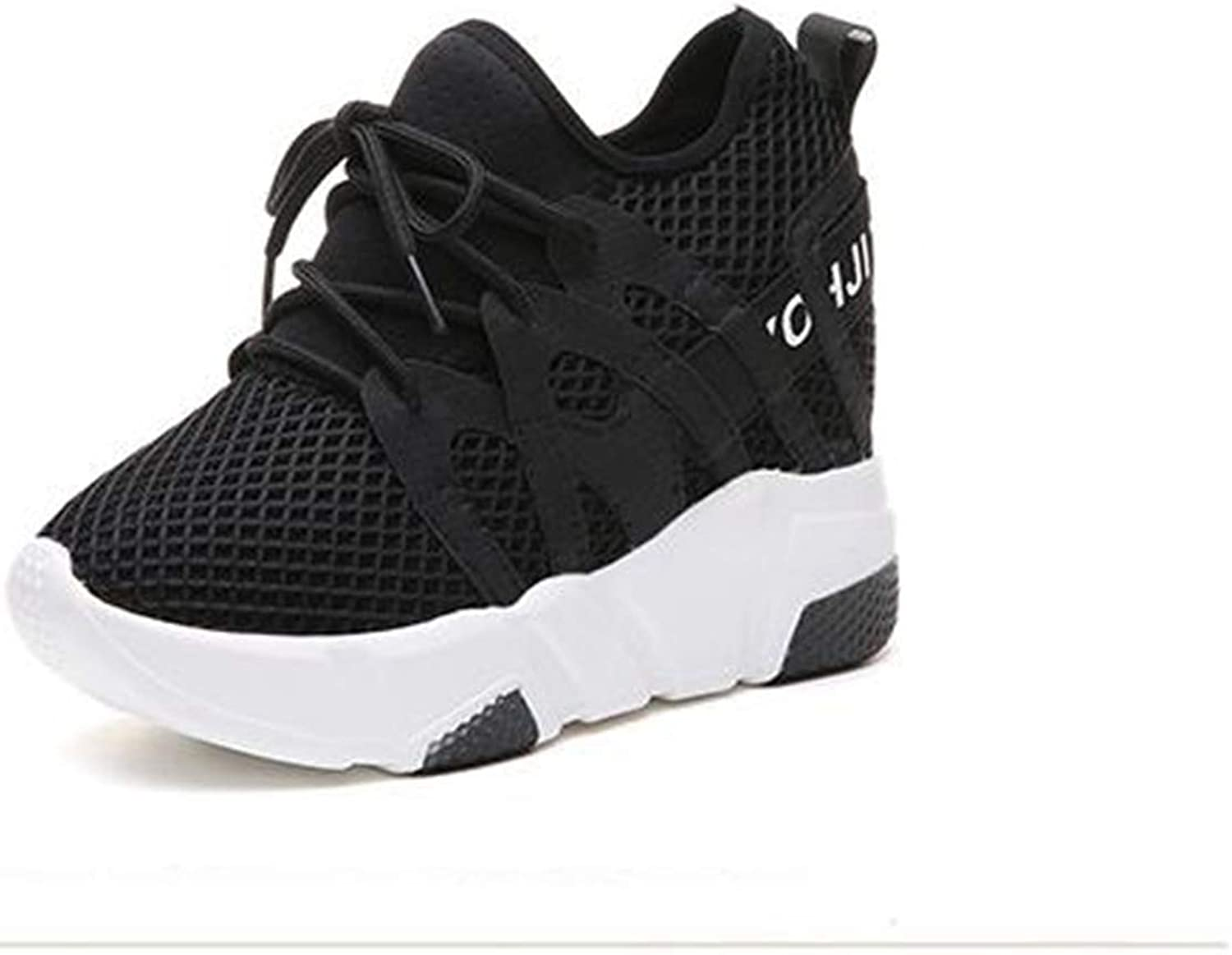 T-JULY Women's Fashion Increases Casual shoes Femael Network Air Wedge Airplane shoes
