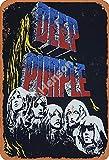 Deep Purple 4 Zeichen Eisenmalerei Zinnwand Retro Eisen