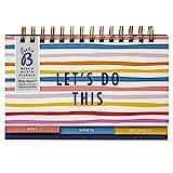 Planificador semanal & mensual Busy B - Calendario sin fecha, con soporte incorporado y sección de cumpleaños, One Size