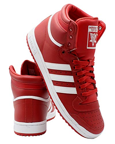 red adidas high tops - 1