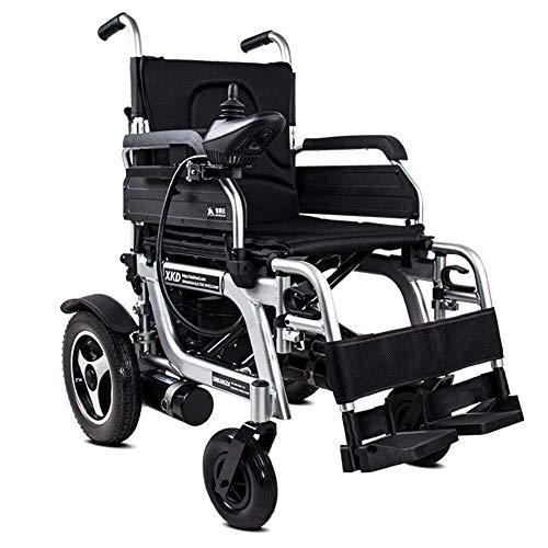 silla de ruedas La silla de ruedas plegable - Walker silla de ruedas eléctrica compacta, velocidad 1-8 km/h, la carga máxima de 120 kg de transporte negro