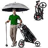 3 carritos de ruedas de aluminio de golf, carrito de golf, plegable Push Pull carro de golf de peso ligero, un segundo for abrir y cerrar, for el recorrido del deporte al aire equipo de la aptitud WKY