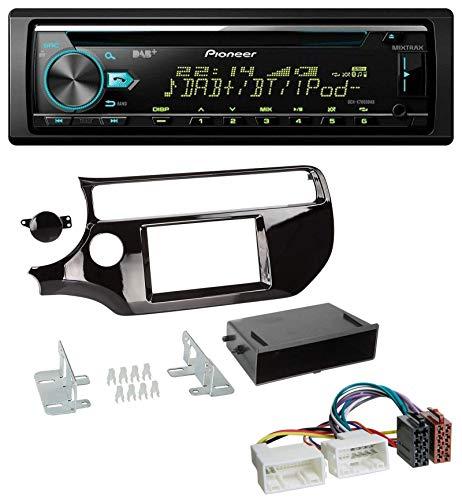 caraudio24 Pioneer DEH-X7800DAB DAB MP3 CD USB Bluetooth Autoradio für Kia Rio UB ab 2015 Piano-schwarz