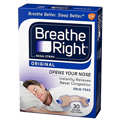 Breathe Right Nasal Strips Original Tan Small/Medium, 30 Count