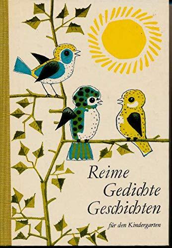 Reime, Gedichte, Geschichten für den Kindergarten